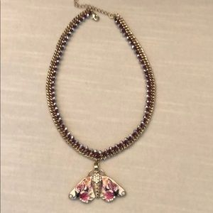 Anthropologie Butterfly Necklace